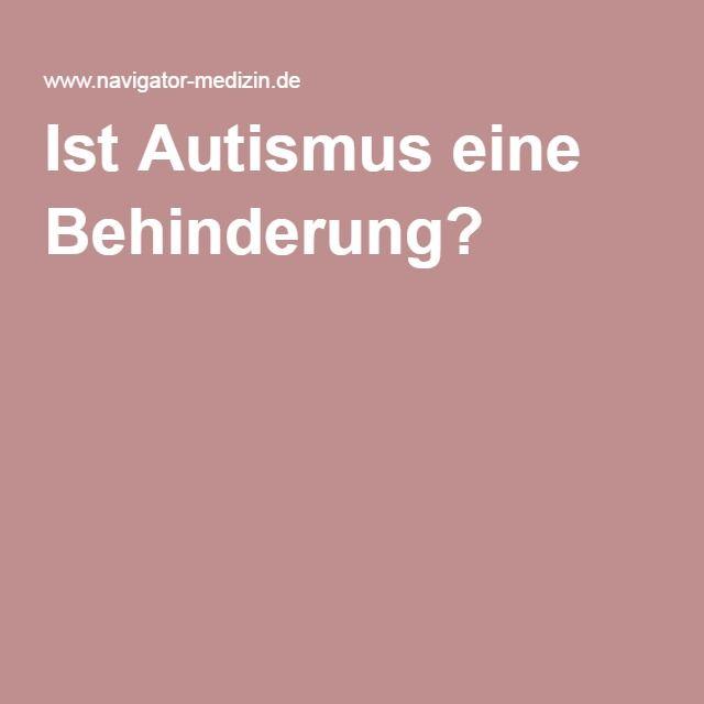 ist autismus eine behinderung