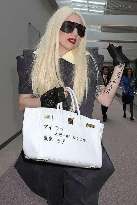 78b8507a27e2 Lady Gaga with Hermes Birkin Bag