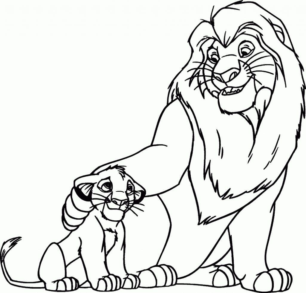 Rei Leao Leao Para Colorir Paginas Para Colorir Da Disney Leao