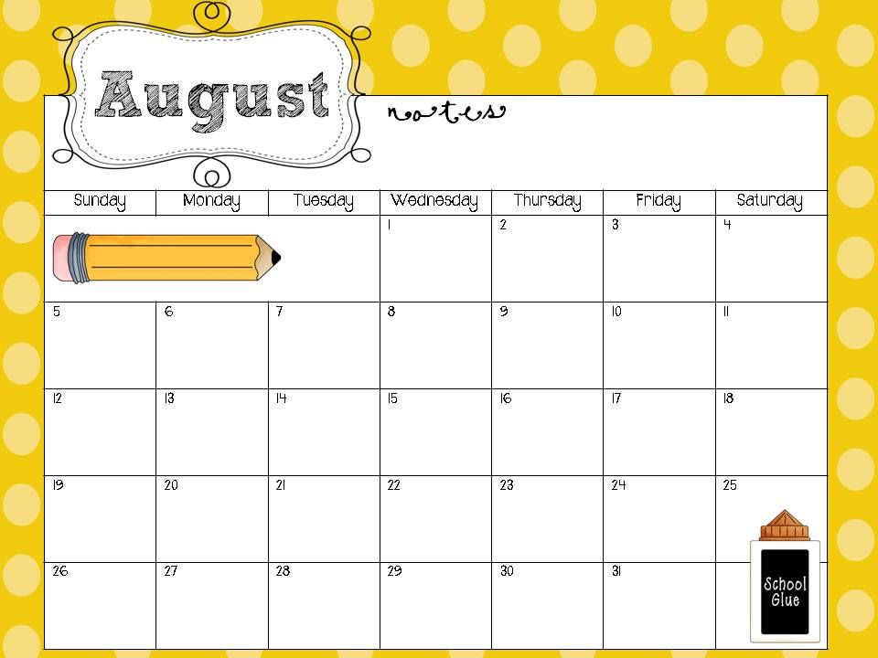 Free+Printable+School+Calendars+Templates education Pinterest - preschool calendar template