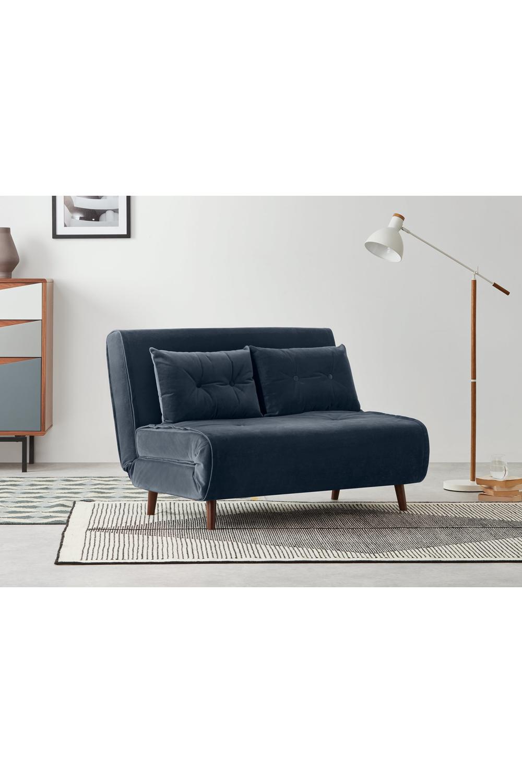 Made Schlafsofa Blau In 2020 Small Sofa Sofa Bed Sofa