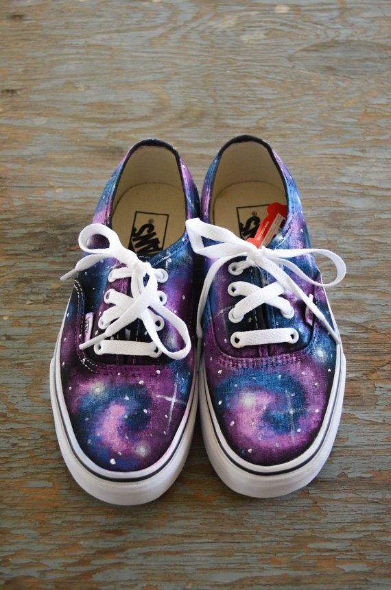 Galaxy VANS (purple and blue) on Etsy, | Shoes | Schuhe