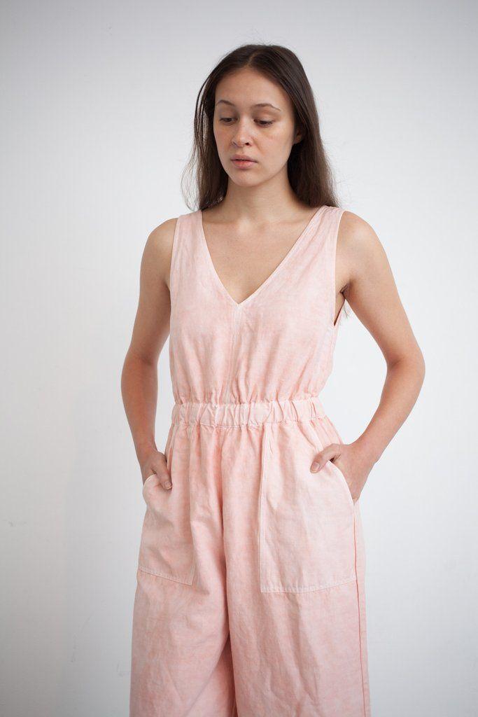 Ulla Johnson Zoe Jumpsuit in Peach | Oroboro Store | Brooklyn, New York