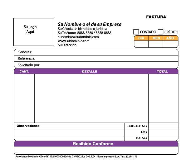Impresión Total SA Producción y venta de facturas, recibos y - delivery docket