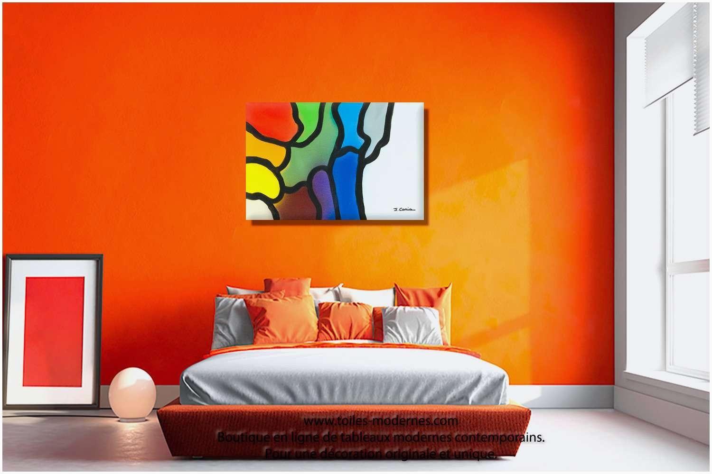 18 Deco Chambre Orange Et Beige  Beige bedroom decor, Industrial