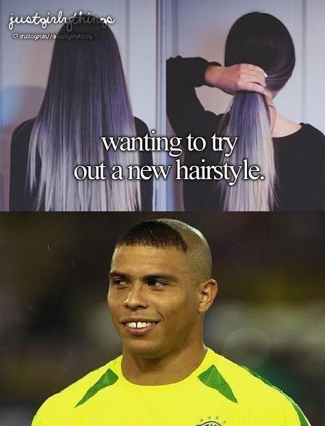 Awe Inspiring Just Girly Thing Parody Haircut Funny Pinterest Smosh Girly Hairstyles For Women Draintrainus