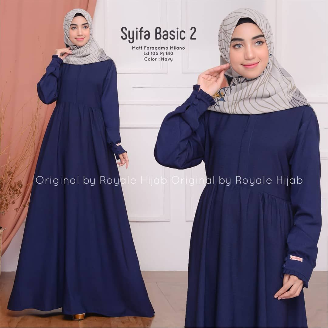 💦SYIFA BASIC DRESS  RP. 165.000 follow 👉 @ayana. dan @hijab.arii . 💕Order Wa 082324832031 / klik link di bio . #fashion#style#stylish#love#ootd#photooftheday#nails#supplierbaju#baju#beautiful&n