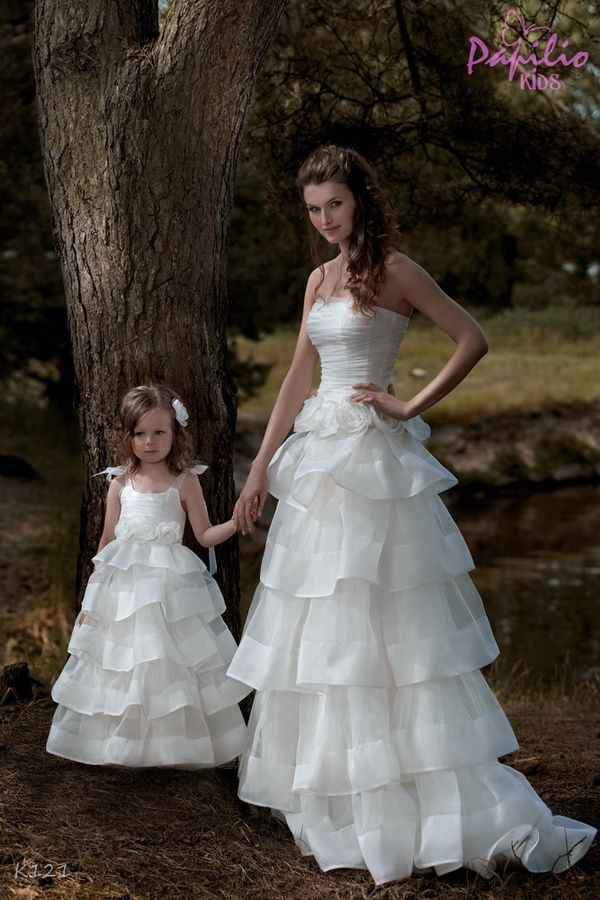 Vestidos de novia para mujeres con hijos