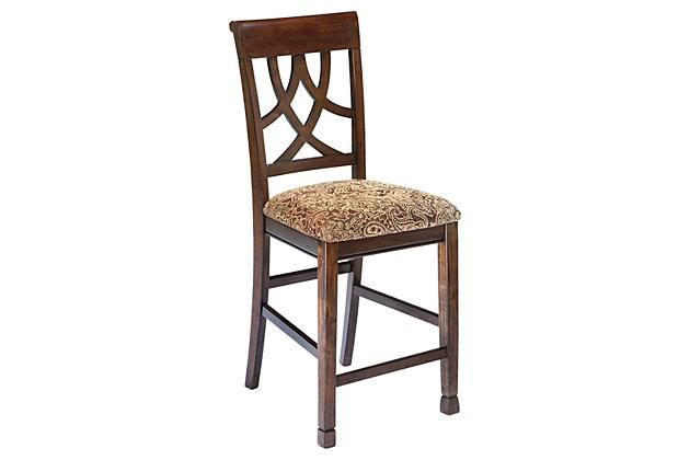 Medium Brown Leahlyn Counter Height Barstool View 2 With