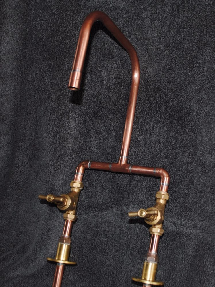 Handmade Copper Kitchen Basin Bath Mixer Tap Industrial