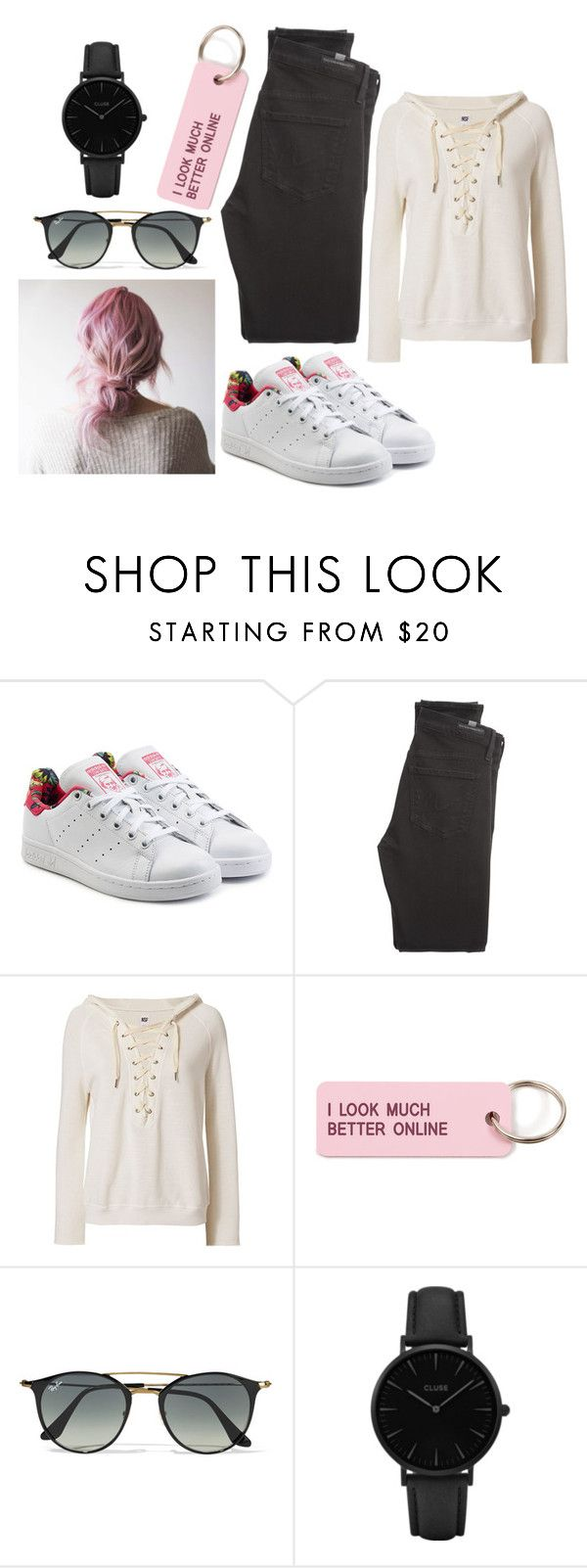 """""""Untitled #345"""" by dvrtbvg on Polyvore featuring adidas Originals, Citizens of Humanity, NSF, Various Projects, Ray-Ban and CLUSE"""