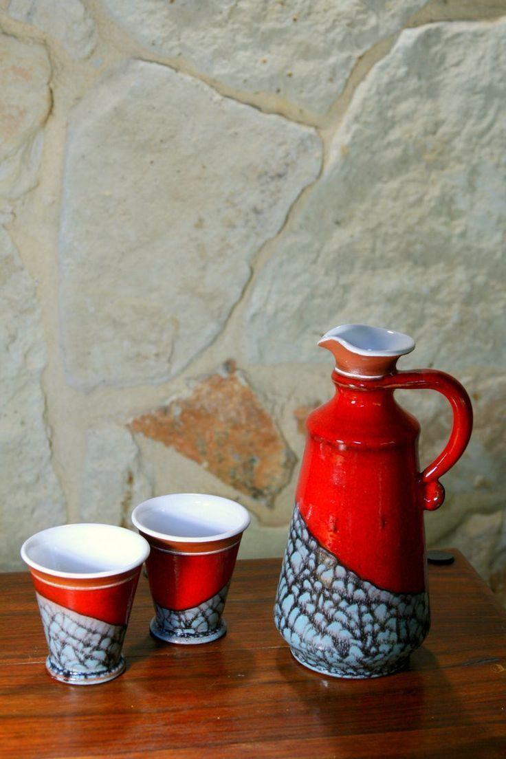 Hand Thrown Ceramic Jug Pottery Water Pitcher Ceramic Carafe Earthen Jug Red Wine Jug Ceramic Jug Wine Jug Ceramic Jugs Pottery