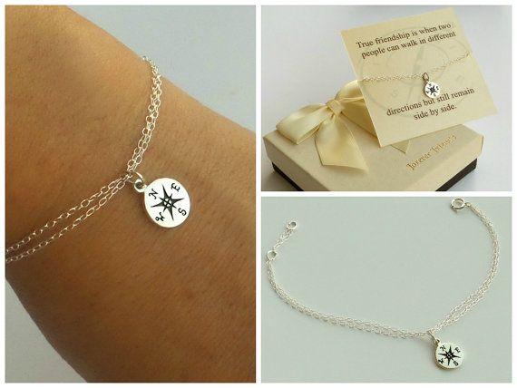 3131d85247042 Compass bracelet, best friends, sister bracelet. Journey bracelet ...