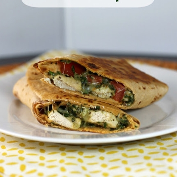 Grilled Chicken Pesto Wraps-will try with paleo wrap recipe