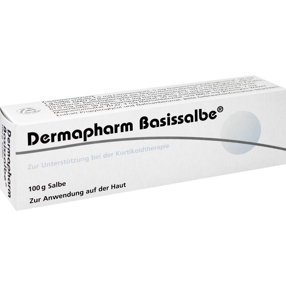 DERMAPHARM Basissalbe:   Packungsinhalt: 100 g ointment PZN: 00550775 Hersteller: DERMAPHARM AG Preis: 5,78 EUR inkl. 19 % MwSt. zzgl.…