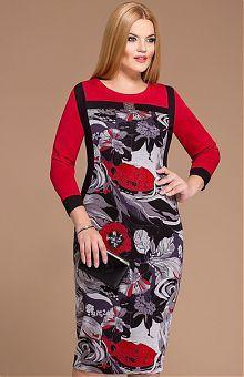 Чёрные женские платья большого размера