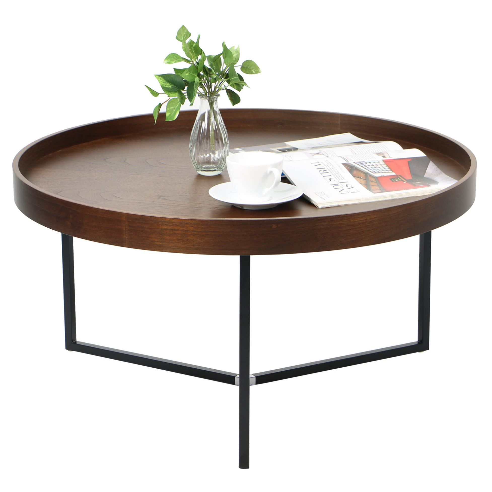 Buy Barrie Walnut Round Tray Table Online on FortyTwo from just $149.00 now! Shop with confidence with 100 Day Free Returns on selected products!