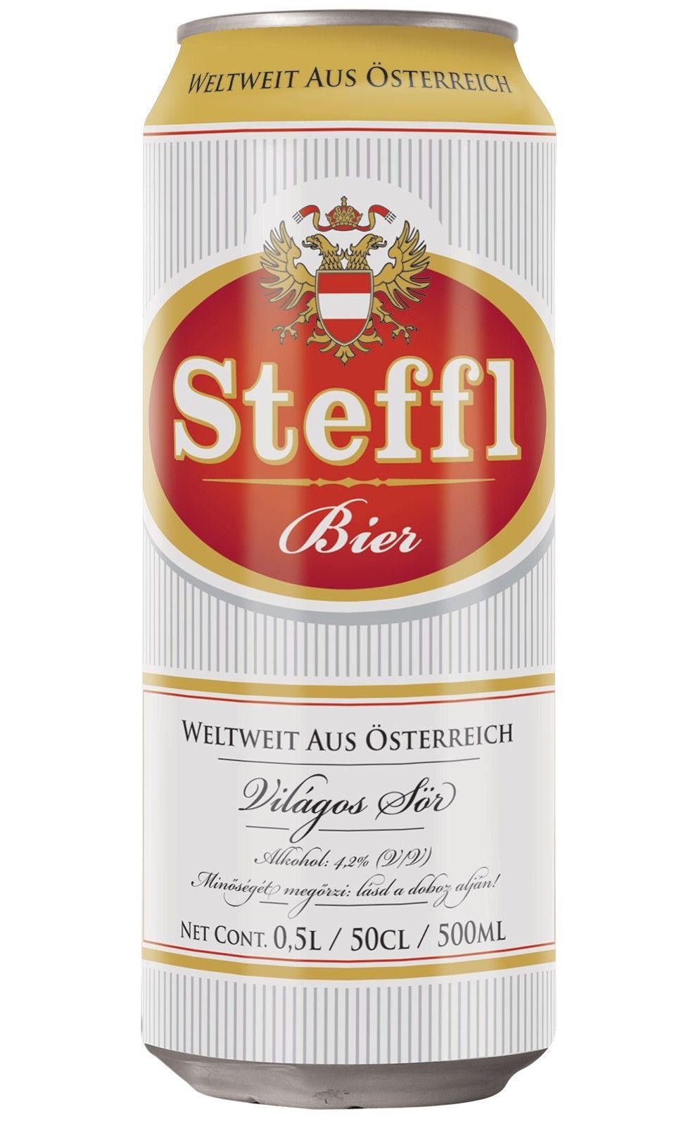 Steffl Bier Hungary Beer Brands Beer Packaging Beer