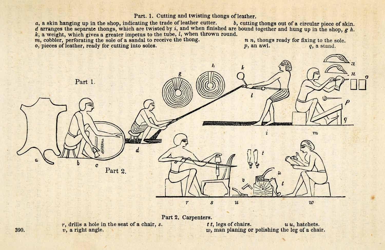 Ancient Egyptian Leather Cobbler Carpenter Handicraft