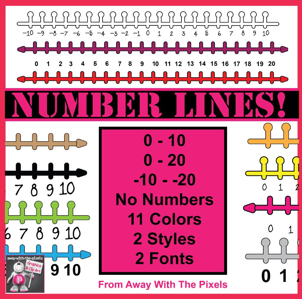 small resolution of number lines clip art number lines showing 0 10 0 20 and