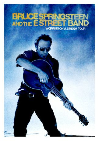 """Very cool poster. I'm thinking the picture is meant to look like a live performance of """"Working on the Highway"""""""