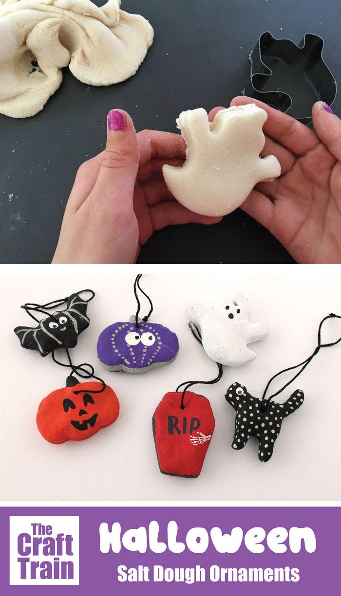 Halloween Salt Dough Ornaments #saltdoughornaments