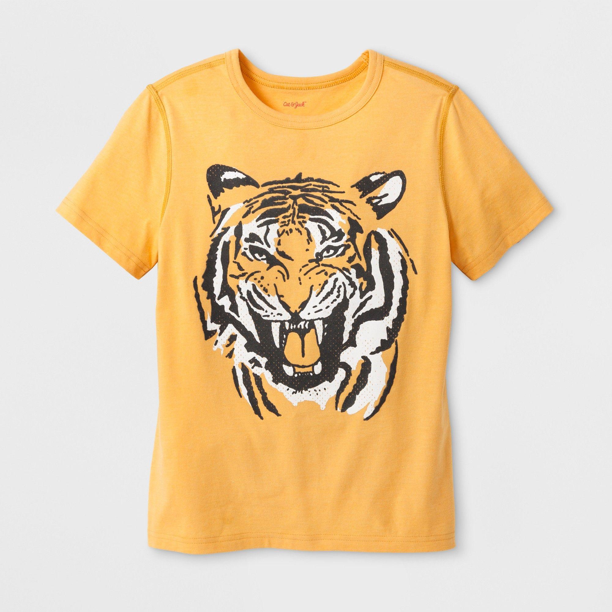0c1fcc3ed238e petiteBoys' Adaptive Short Sleeve Tiger Graphic T-Shirt - Cat & Jack ...