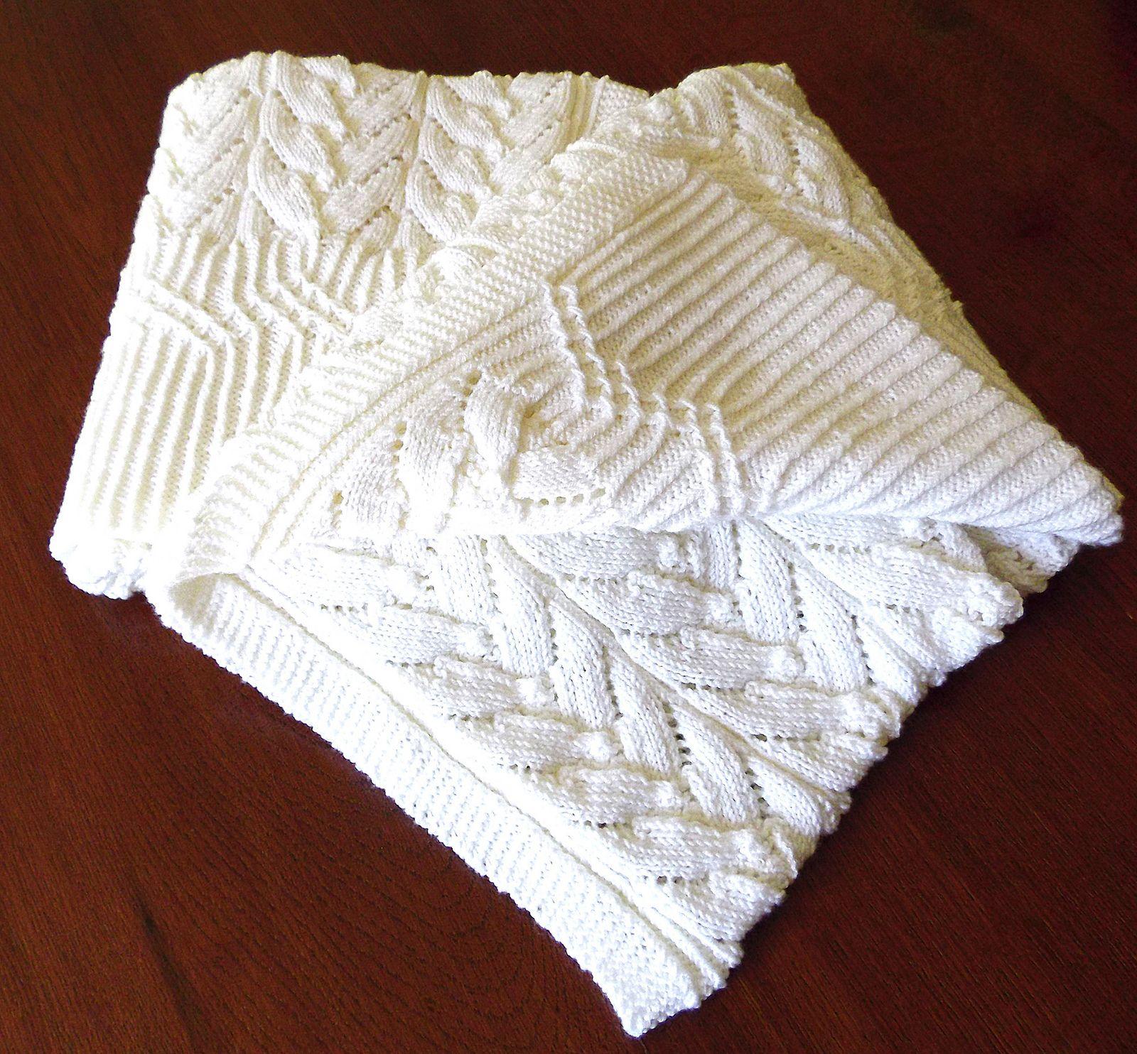 Cathedral Heirloom Baby Blanket pattern by OGE Knitwear Designs