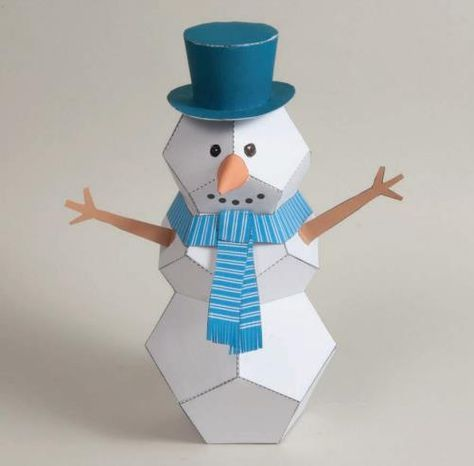 Papermau Christmas Time Christmas Snowman Paper Toy By Brother