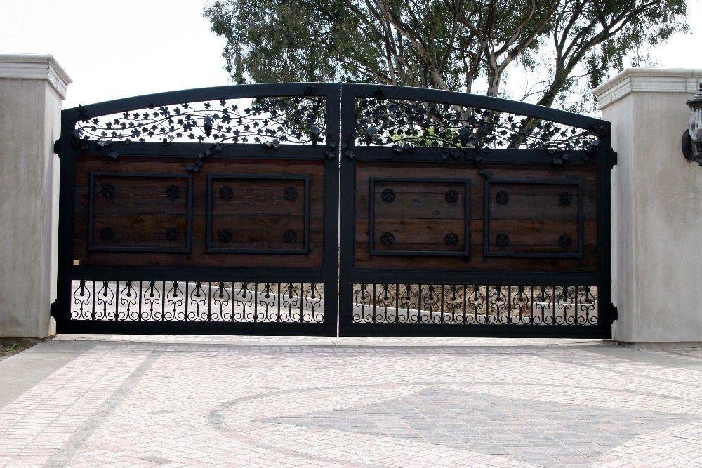 A Wood Amp Iron Gate Located In Murrieta Ca Designed