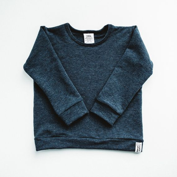 Classic Sweatshirt  Stone Blue Bamboo by NorthKinder on Etsy