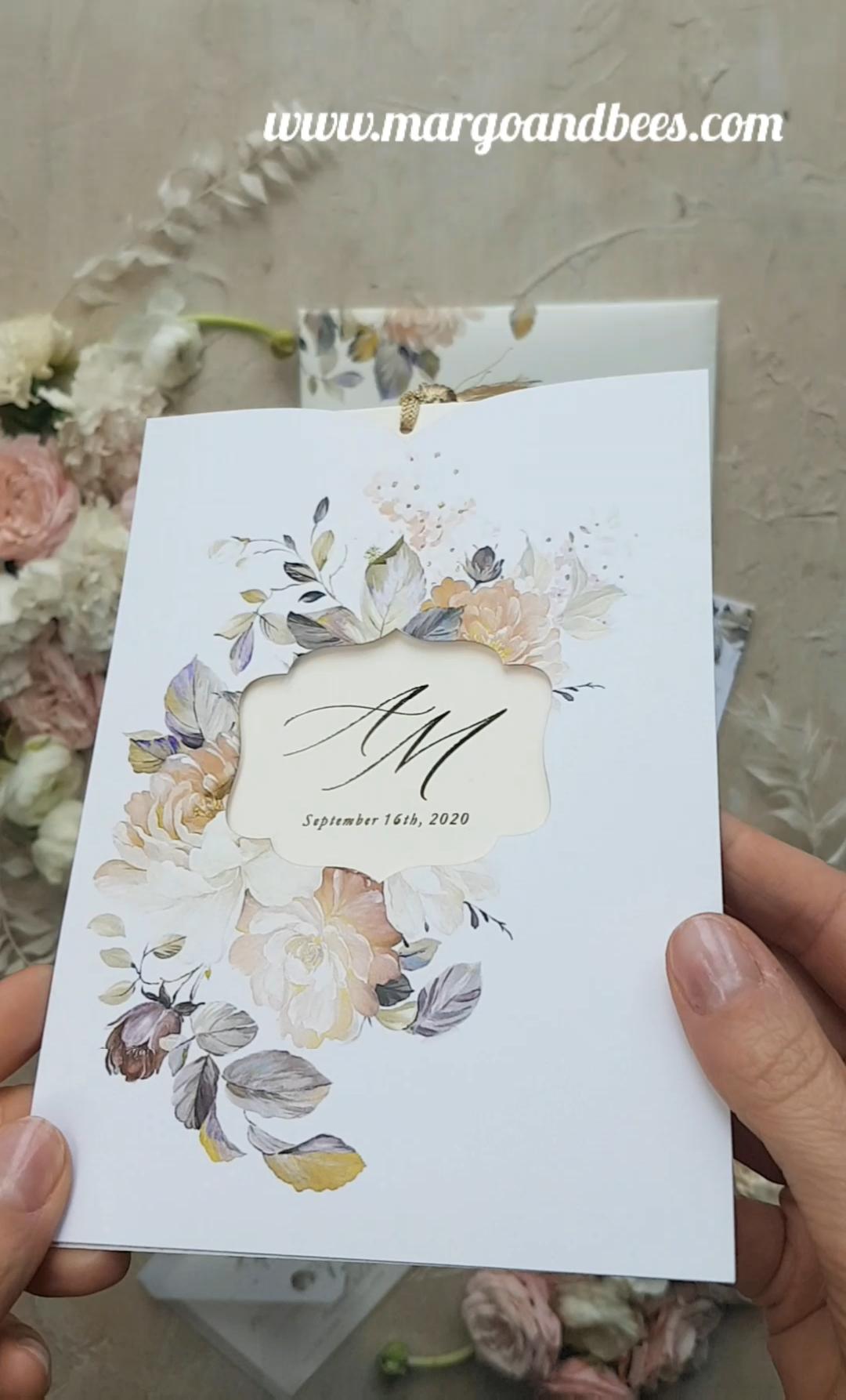Print wedding invitations gold colour scheme invites
