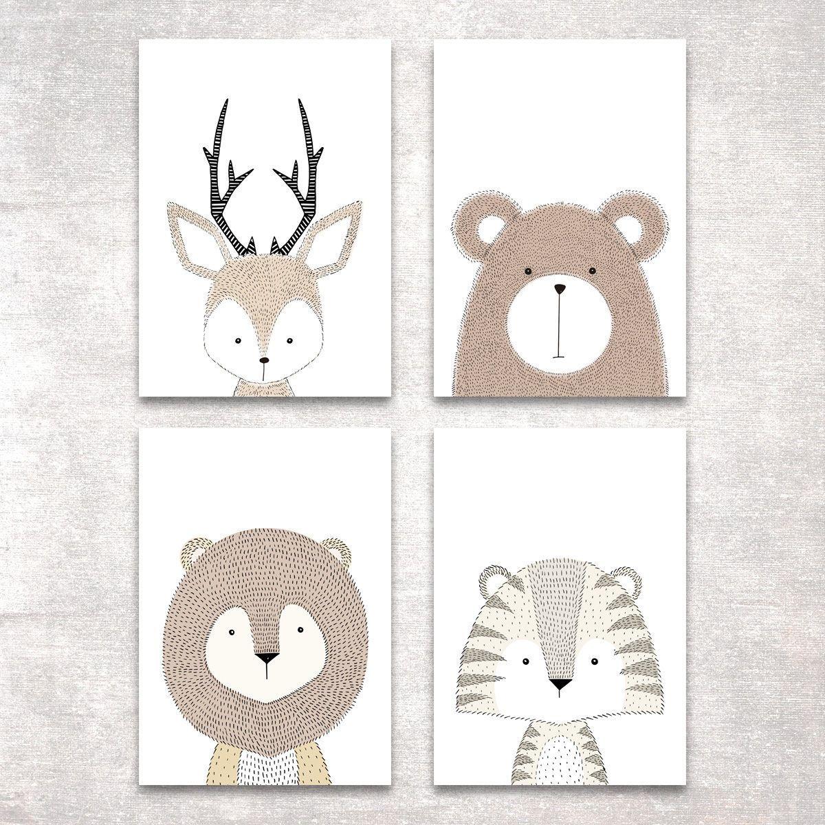 Reh Schwarz Weiß Kunstdruck Poster A4 Tier Foto Geschenk Deko Bild Druck