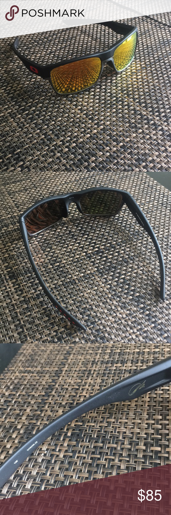 cf3d7b1a718 ... asian fit lin dan signature series sku oo9256 09 b73b3 dbb2d usa oakley  twoface mens sunglasses great condition. some very very minor scratches.  oakley ...