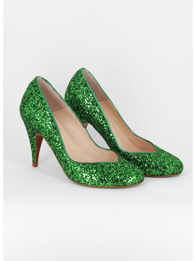 Ça Va Bien Fashion , Escarpins pour femme - vert - Green,