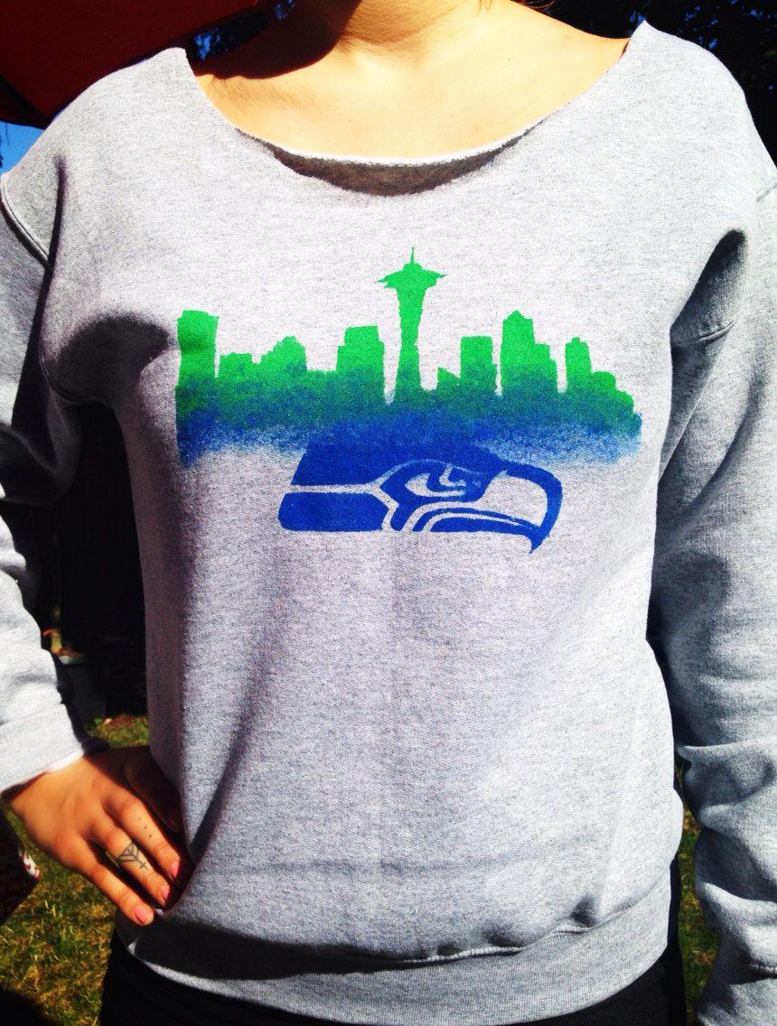pretty nice 90844 dffca Seahawks Sweatshirt 12th Man Hawks Fan Gear Women's Clothing ...