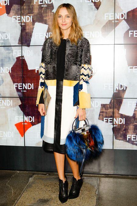 Argentine socialite Candela Novembre* Fendi show fall 2014 mfw.