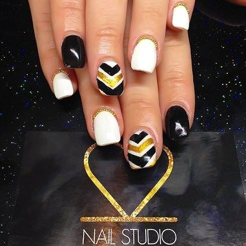 Golden Nail Designs for 2014