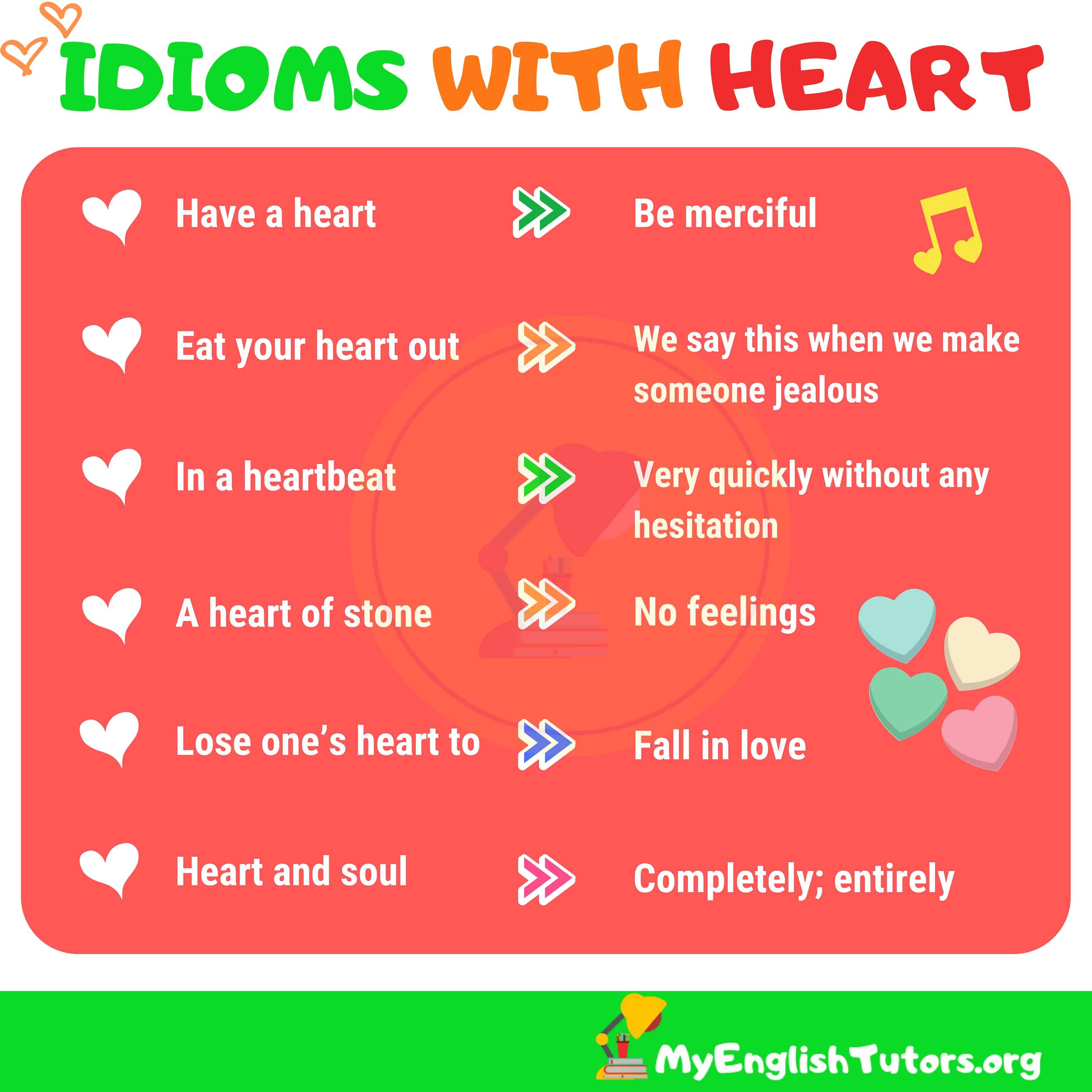 Heart Idioms Worksheet   Printable Worksheets and Activities for Teachers [ 3200 x 3200 Pixel ]