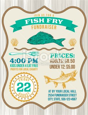 fish fry fundraiser template with a nautical theme there are fish