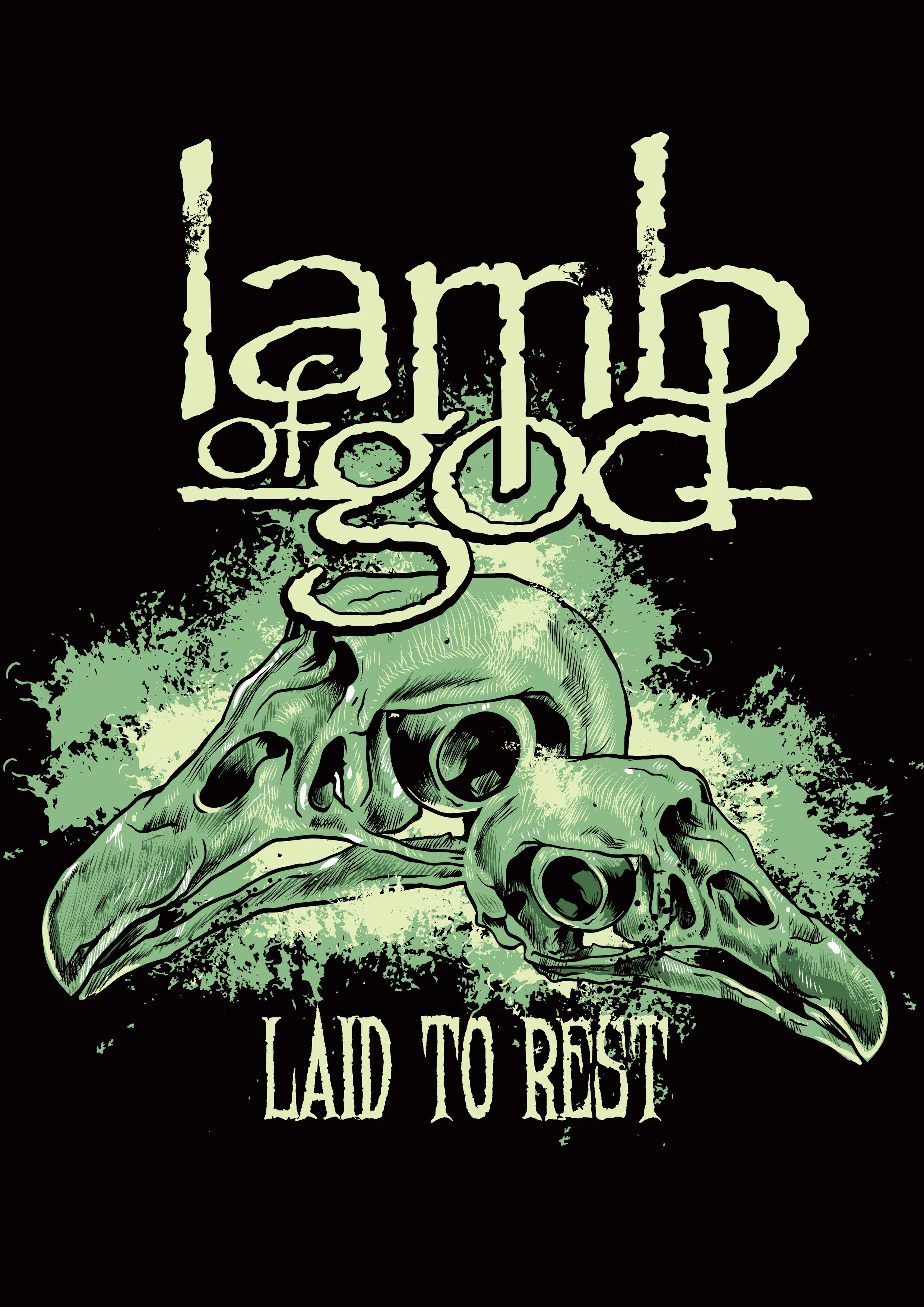 LAMB OF GOD POSTER Skull RARE HOT NEW 24X36