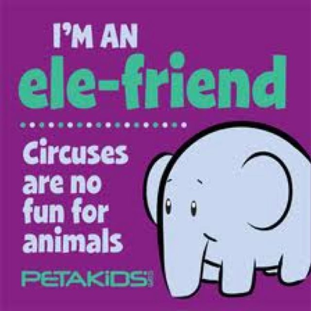  Elephant Awareness Day! Be an Ele-friend and don't go to circuses! Also go on line to www.elephantawarenessday.com to see how else you can help! 