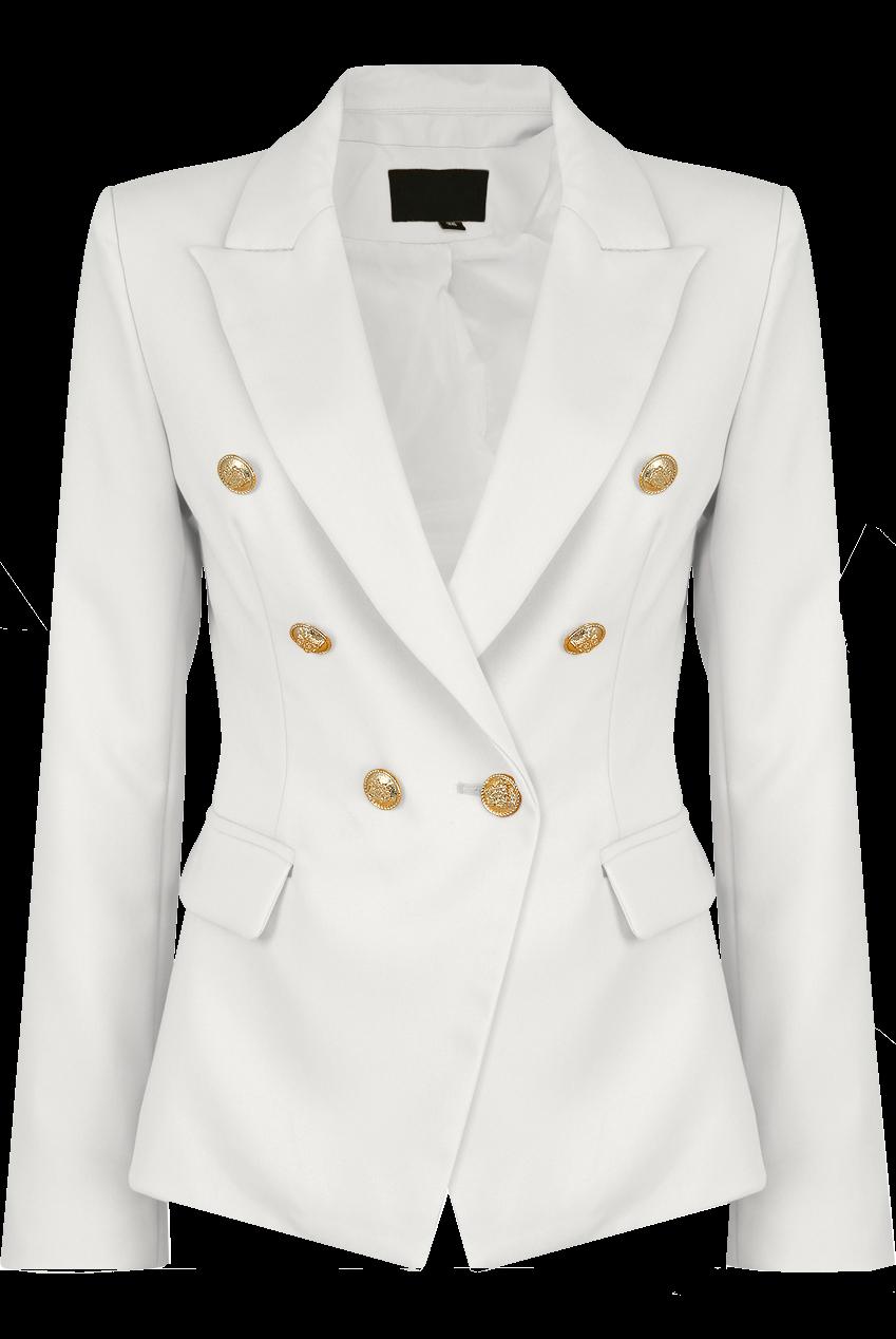 8187c0ca Victoria Balmain Inspired Tailored Blazer - Ivory White | baby D ...