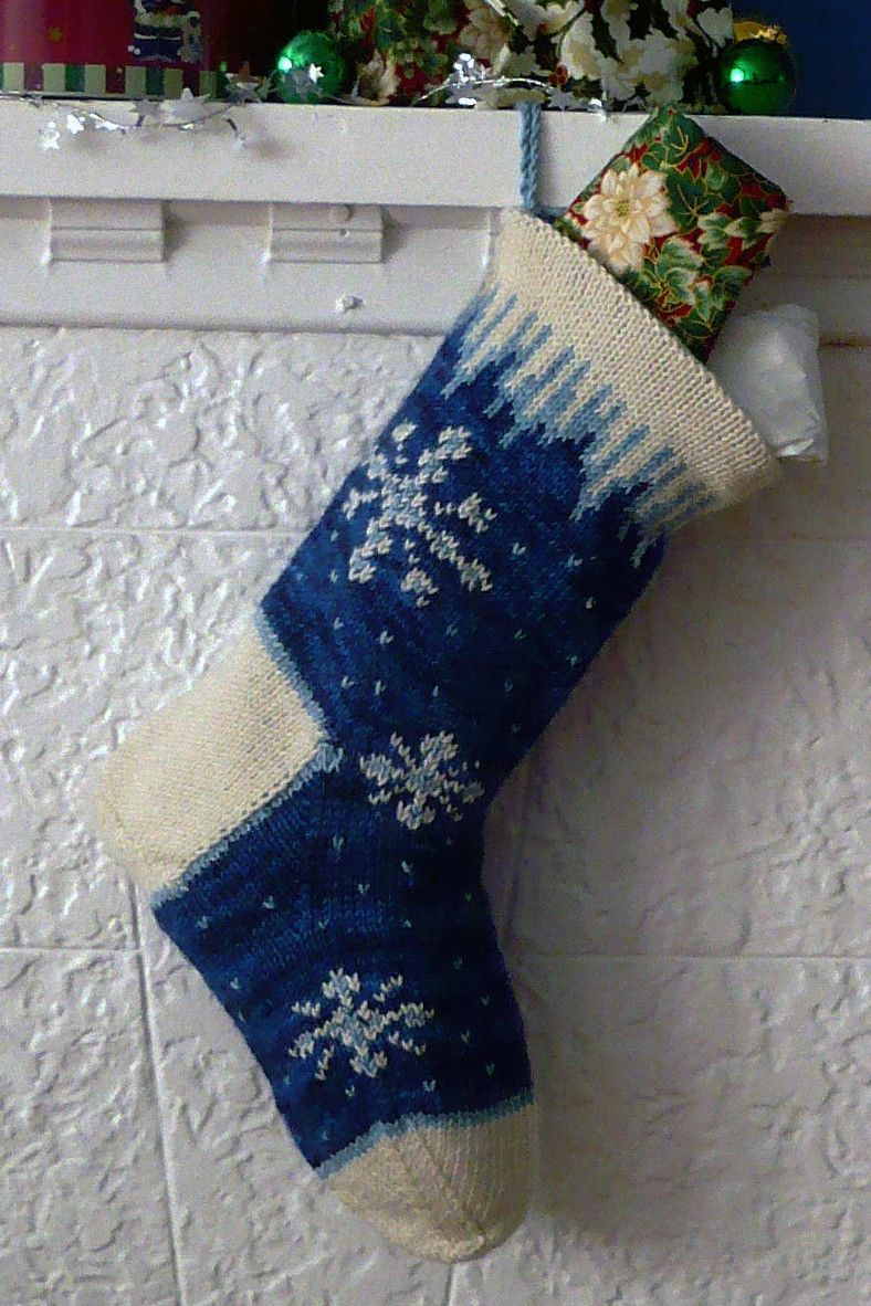 Icicle christmas stocking christmas stocking stockings and knit icicle christmas stocking knitting ideasknitting kitsfair isle bankloansurffo Choice Image