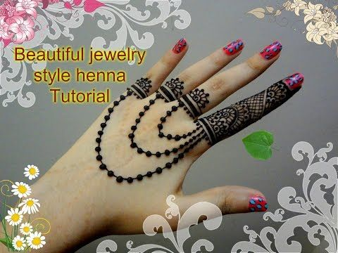 Mehndi For The Inspired Artist : How to apply beautiful jewellery ornamental mehndi designs for