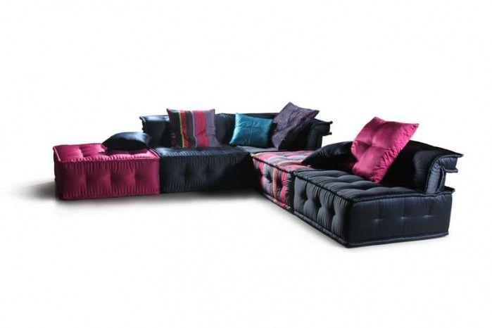 Chloe Ls103da Multi Colored Fabric Sectional Sofa Modular