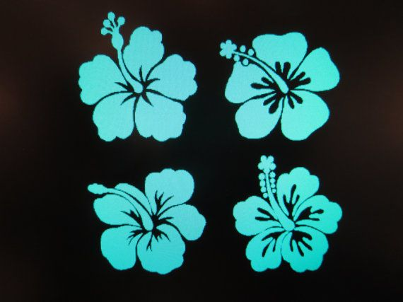 Hibiscus Flower Vinyl Auto Vehicle Decal By CustomVinylDecalsU - Flower custom vinyl decals for car