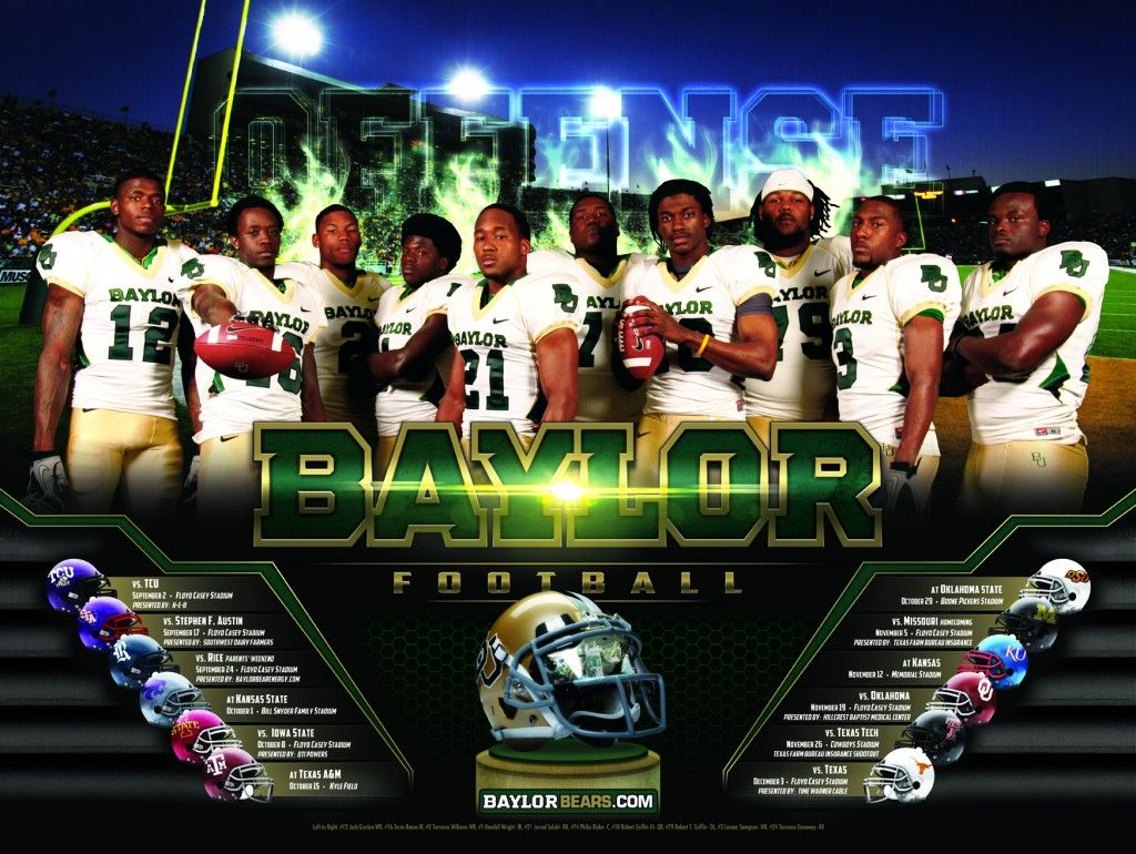 Baylor Football Poster 2011Offense Football poster, Big