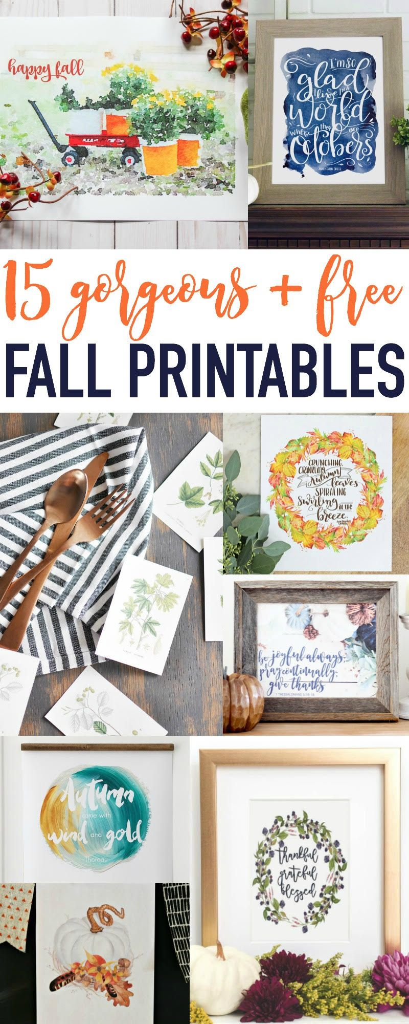 Saving for later....LOVE these 15 Amazing Fall Printables with One Project Closer