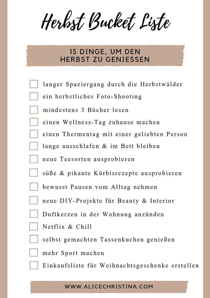 Herbst Bucket Liste: 15 Dinge um den Herbst zu genießen, inkl. Freebie zum Download | Alice Christina | Fashion und Lifestyle Blog aus Österreich